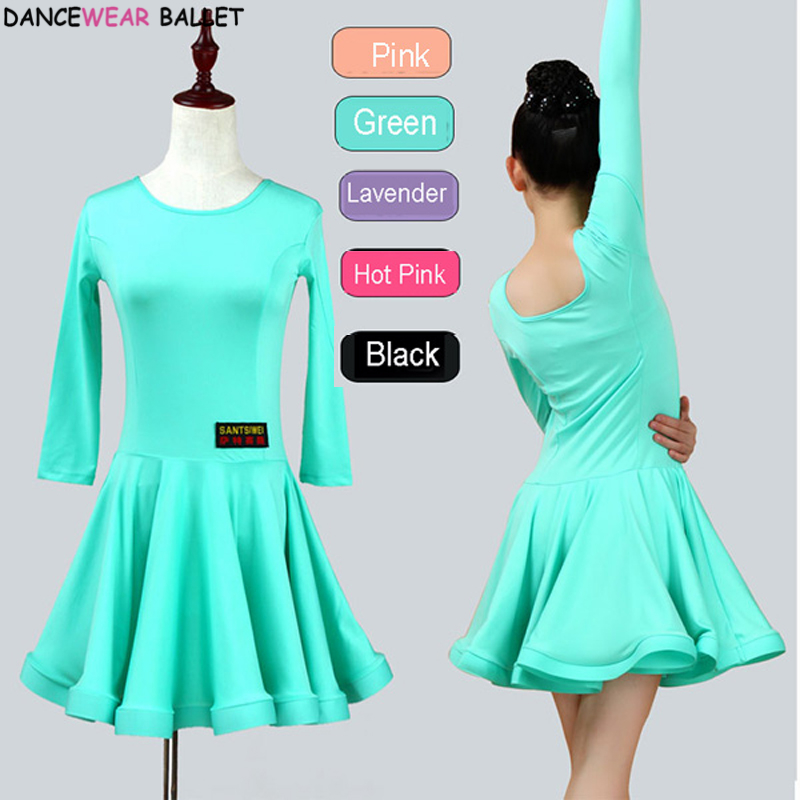 New Girls Ballroom Dancing Waltz Tango Dress Kids Salsa Bachata Latin Dance Costume Latin Dancing Clothes For Sale