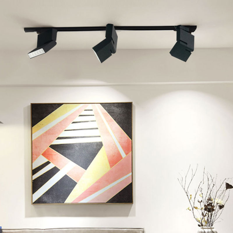 6w 12w Cob Track Lighting Spot Light Adjule Ceiling