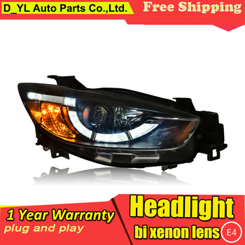 Car Styling Headlights for Mazda CX-5 2013-2015 LED Headlight for CX-5 Head Lamp LED Daytime Running Light LED DRL Bi-Xenon HID
