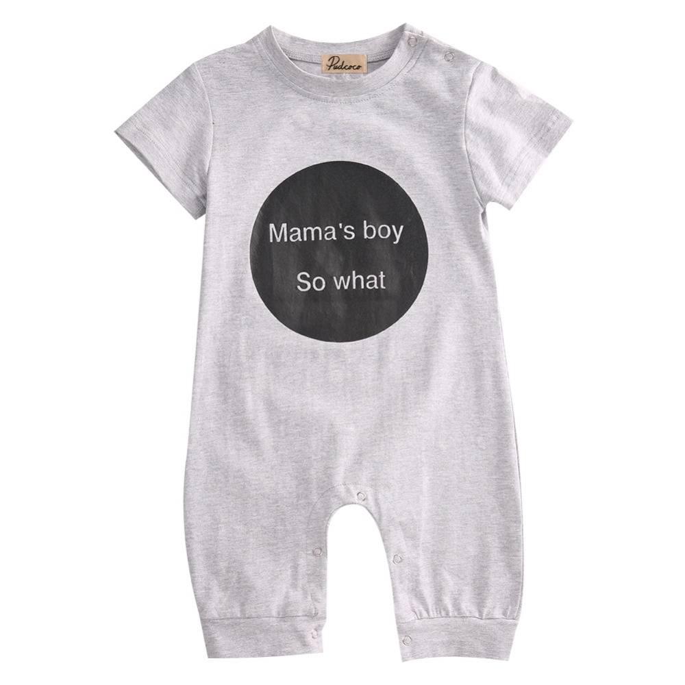 Newborn Baby Boys Girls Rompers Infant Short Sleeve Cotton Jumpsuit Clothing Mama's Boy Printed Summer Clothes Boy Romper cotton baby rompers infant toddler jumpsuit lace collar short sleeve baby girl clothing newborn bebe overall clothes