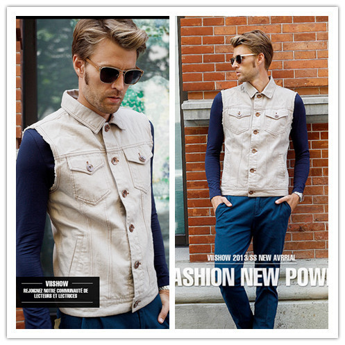 Viishow 2016 spring winter men vest fashion men single breasted vest male vest suit outerwear jacket M/L/XL/XXL