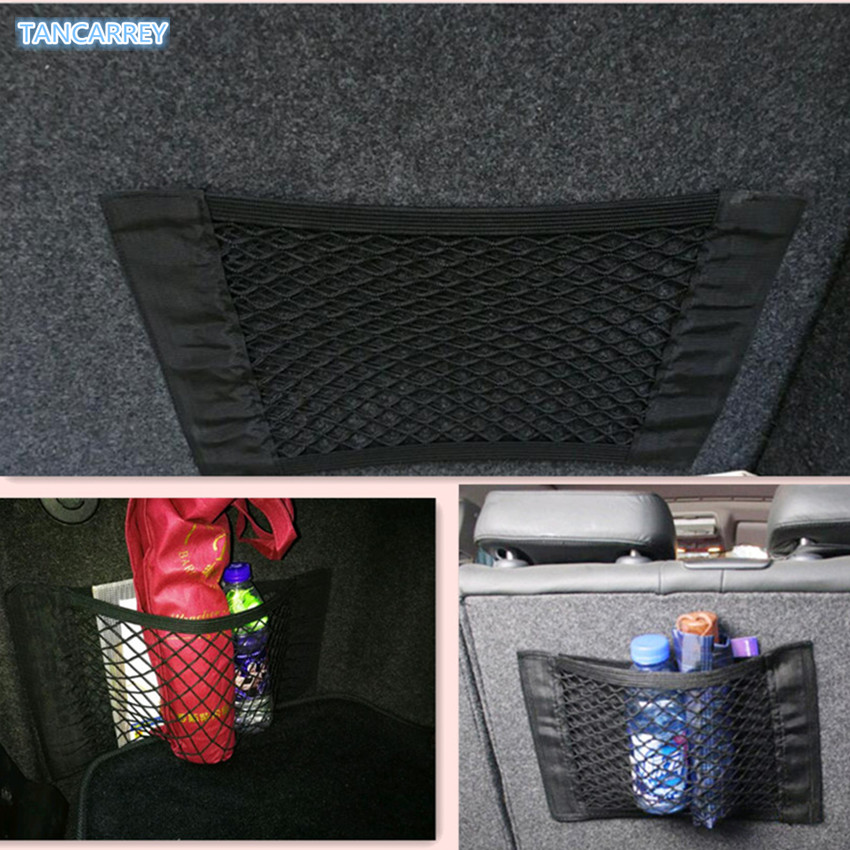 HOT SALE Car Trunk content bag storage net FOR  VW Golf 5 6 7 Jetta MK5 MK6 MK7 CC Tiguan Passat B6 b7 Scirocco New Touareg R-in Car Tax Disc Holders from Automobiles & Motorcycles