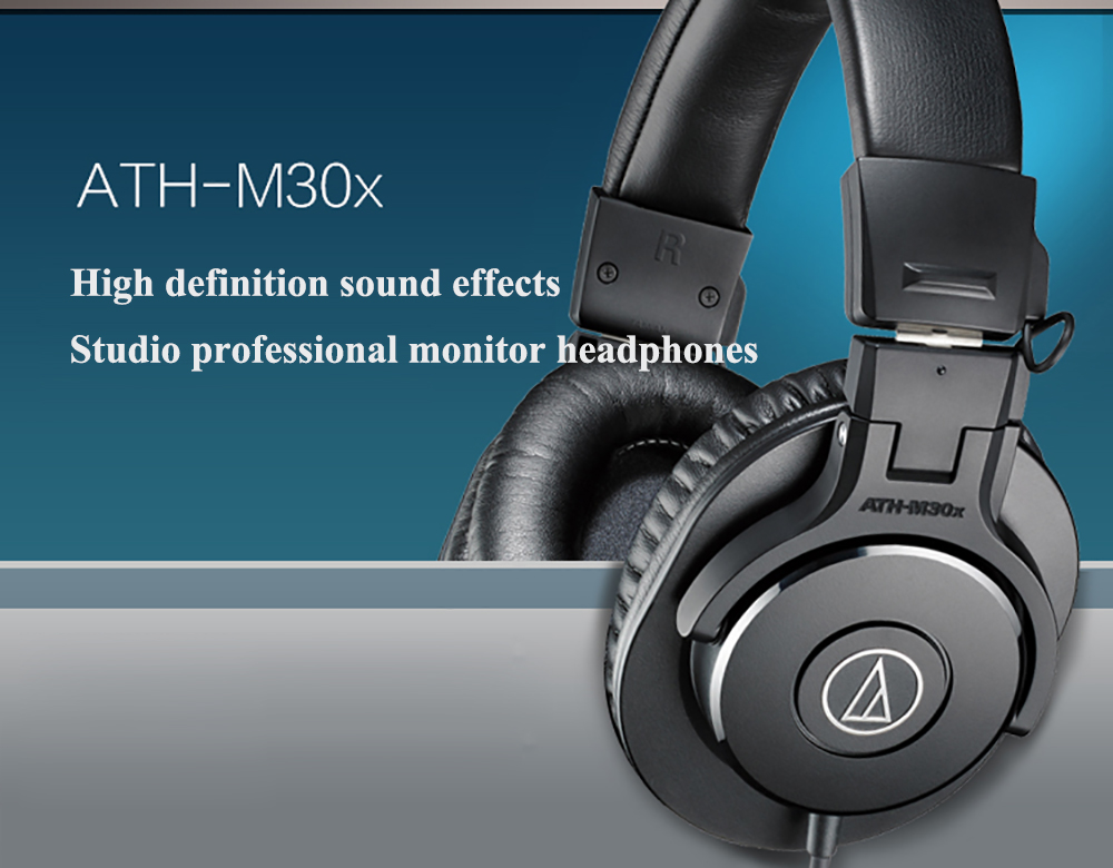 Audio Technica ATH-M30x Professional Studio Monitor Headphone 4