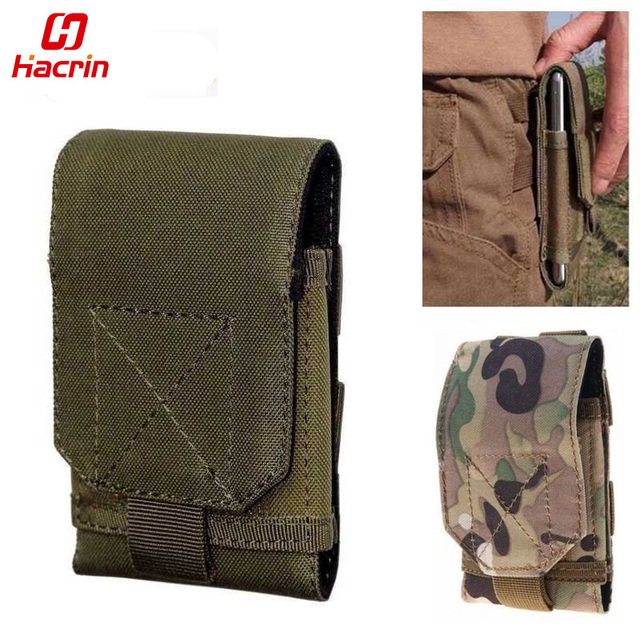 hacrin phone waist bag Large Size Army Camo Mobile Phone Hook Belt Pouch Sleeve Holster Cover Case For Oukitel K10000 MAX K5000