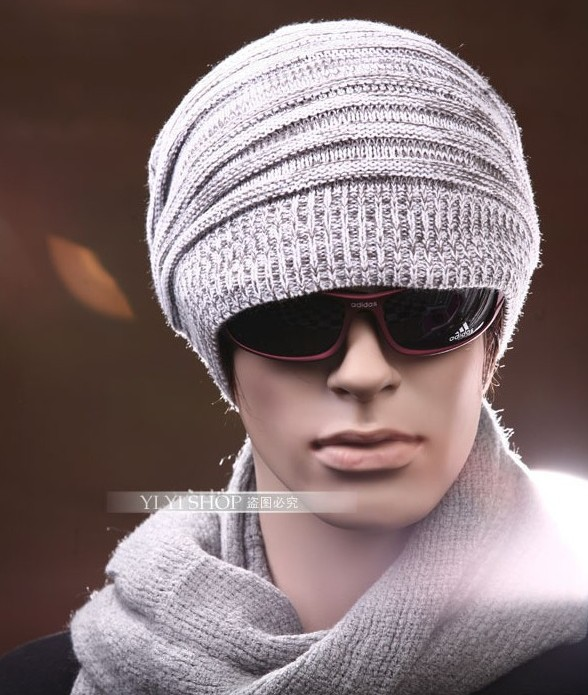 0cc394c4 Fashion Street Hip hop Style Men's Knitted Beanie Hats With Wrinkle Design  Russian Winter 2014 Knitting Wool Caps In Patch color-in Skullies & Beanies  from ...
