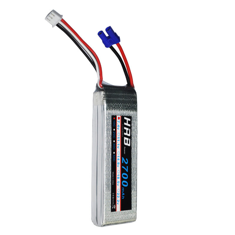 HRB hubsan x4 h501s Lipo 2S Battery 7.4V 2700mah EC2 10C-20C RC Bateria Drone AKKU For Helicopter Aircraft Airplane Quadcopter аккумулятор lipo 7 4v 2s 50с 2700 mah ori60165