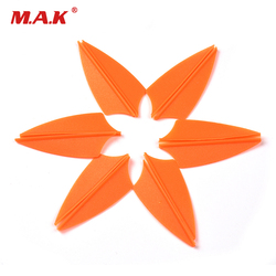 60pcs High Quality 1.75 inch Orange Color DIY Arrows Shield Platic Vans Feaather For Archery Arrow Free Shipping