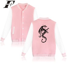 LUCKYFRIDAYF Angry Dragon Baseball Jacket Autumn Warm Cotton Female Fashion Winter Jacket Women Plus Size Casual Street Wear