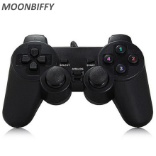 Wired Gamepad USB Game Controller Gaming Joypad Joystick Control for PC Computer Laptop Gamer Black Game Console цена