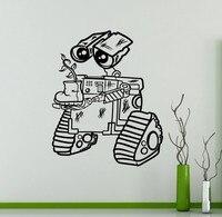 New Arrival Vinyl Sticker For Wall WALL E Decal Cartoons Robots Home Decor Ideas Interior Removable