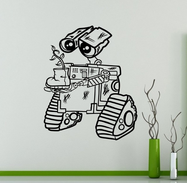 New arrival Vinyl Sticker for Wall WALL-E Decal Cartoons Robots Home Decor Ideas Interior  sc 1 st  AliExpress.com & New arrival Vinyl Sticker for Wall WALL E Decal Cartoons Robots Home ...