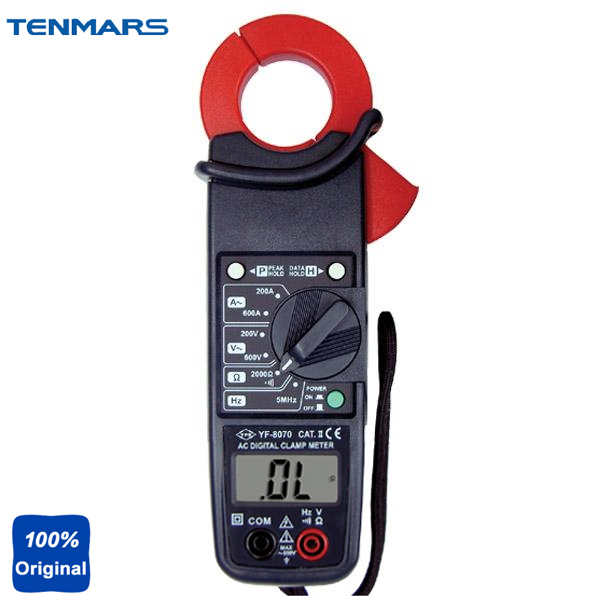 YF-8070 CAT II 600V 3-1/2 Digit LCD with Maximum Reading of 2000 AC Clamp Meter hf 1 8 lcd 3 digit thermocouple