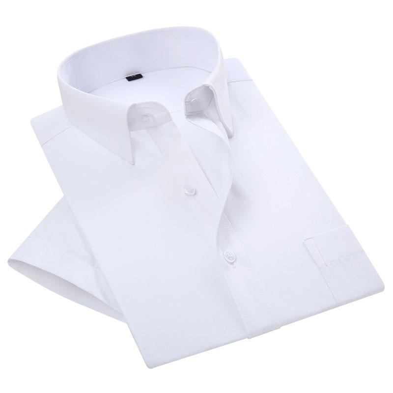 2019 קיץ קצר שרוול סידור יומי של צווארון טיפול קל שאינו ברזל כושר רגיל בתוספת גודל 21 צבעים עסקי מזדמן קצר שרוול חולצה