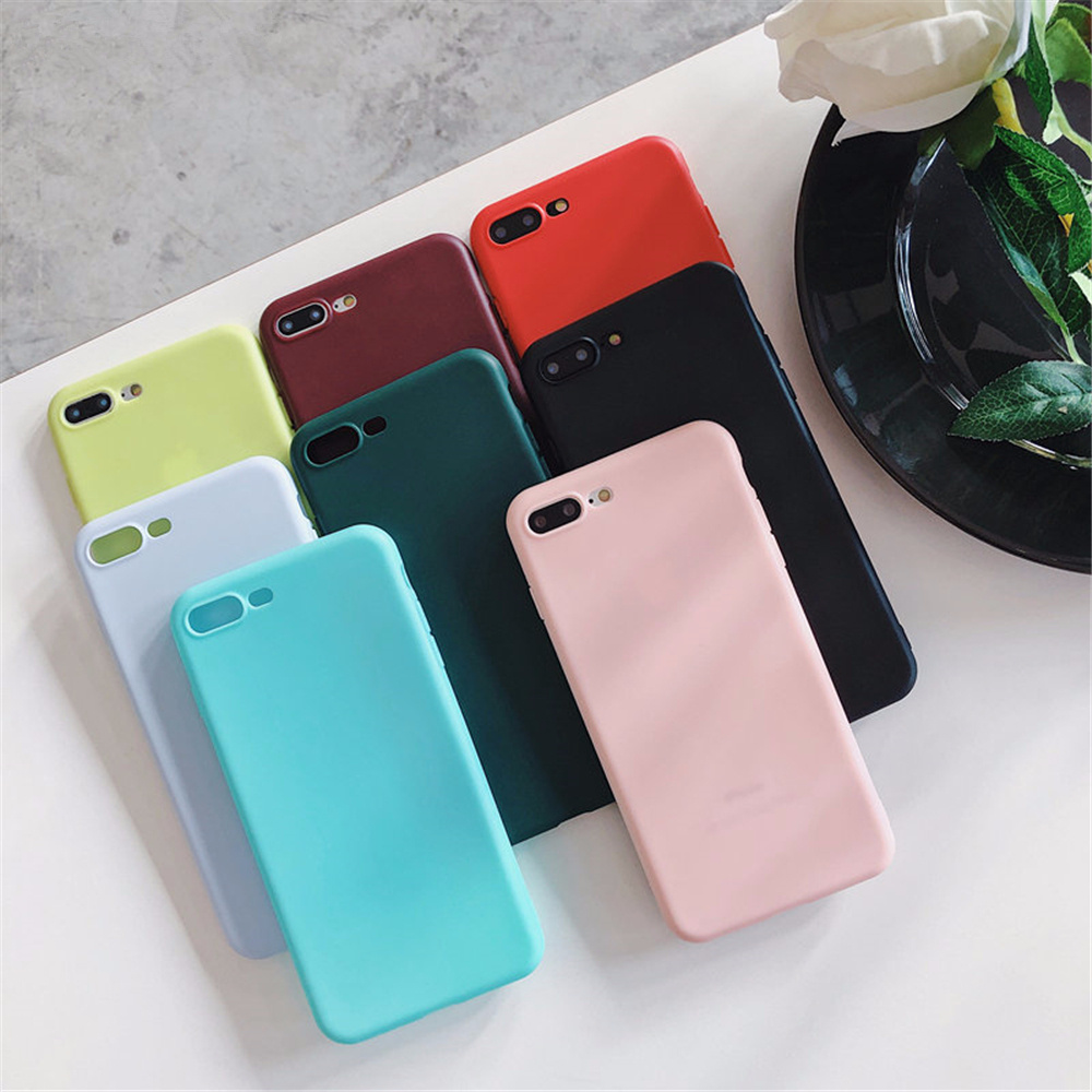 High quality Macarons Color Silicone Frosted Matte Case For