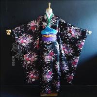 2017 New Fashion classic style Japanese kimono traditional Hell girl Black Sleeve kimono Sleeve kimono Animation