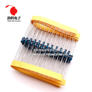 100pcs 1/4W 0R-22M 1% Metal Film Resistor 0.25W 0 2.2 10 100 120 150 220 270 330 470 1K 2.2K 4.7K 10K 100K 470K 1M 10M 20M ohms 1