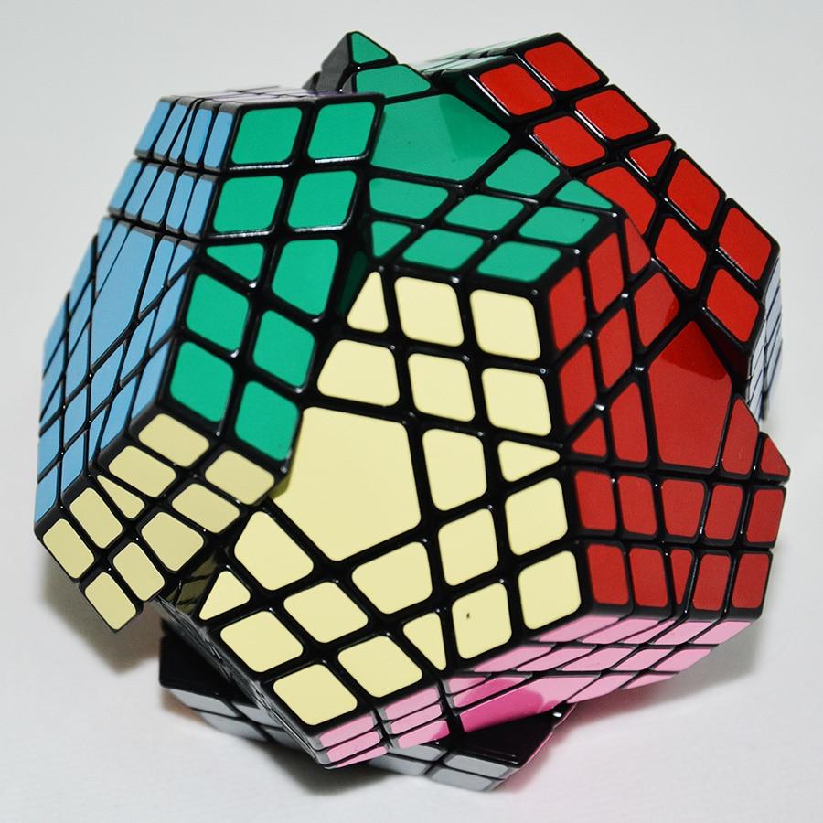 Shengshou Gigaminx Magic Cube Noir De Base avec PVC Autocollants Professionnel Magique Cube D'apprentissage jouets éducatifs - 4
