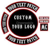Custom your own Motorcycle Biker Patches Iron on/Sew on Embroidered Patches for Jacket Clothing