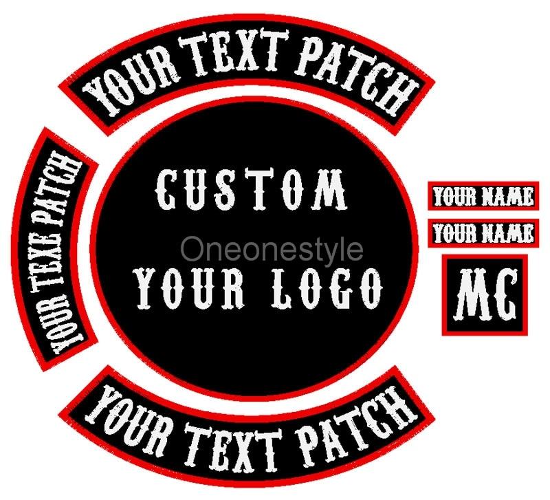 Personnalisez vos propres patchs de motard de moto sur/coudre des patchs brodés pour les vêtements de veste