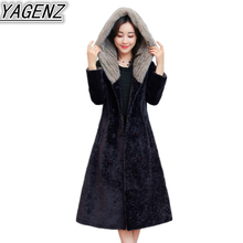 2017 Winter Faux fur Coat Women Lamb Furs Jacket Women Fox fur Wool Jacket Female Faux fur Overcoat Women Hooded Large size Coat