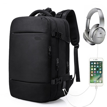 813 New Fashion men's backpack atmosphere backpack USB technology backpack Men's Business Bag
