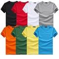Free Shipping new Slim dark green red orange blue gray black white T shirts Slim Fit Short Sleeve T-shirt 6 size S-XXXL