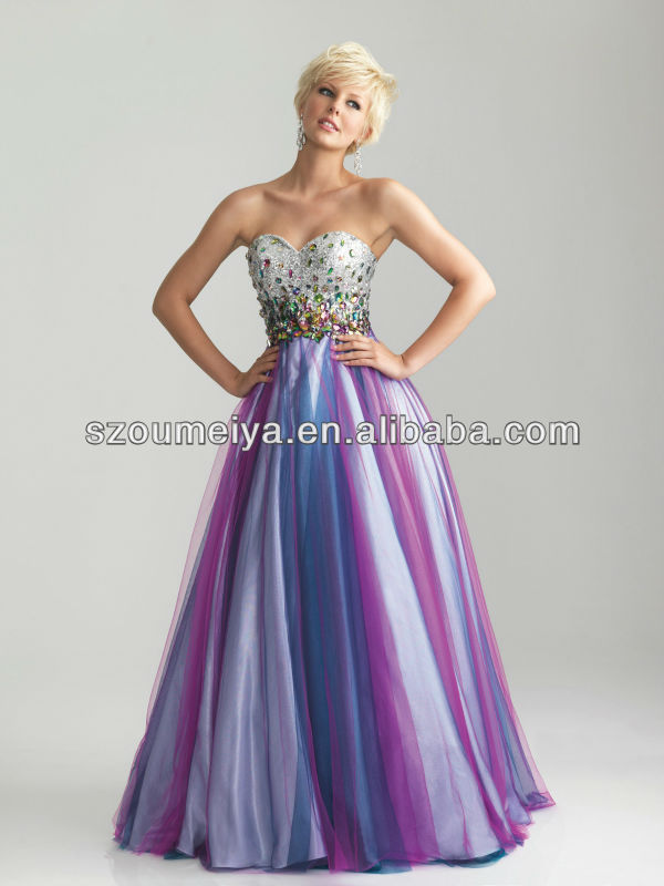 Online Get Cheap Rainbow Prom Dress Floor Length -Aliexpress.com ...