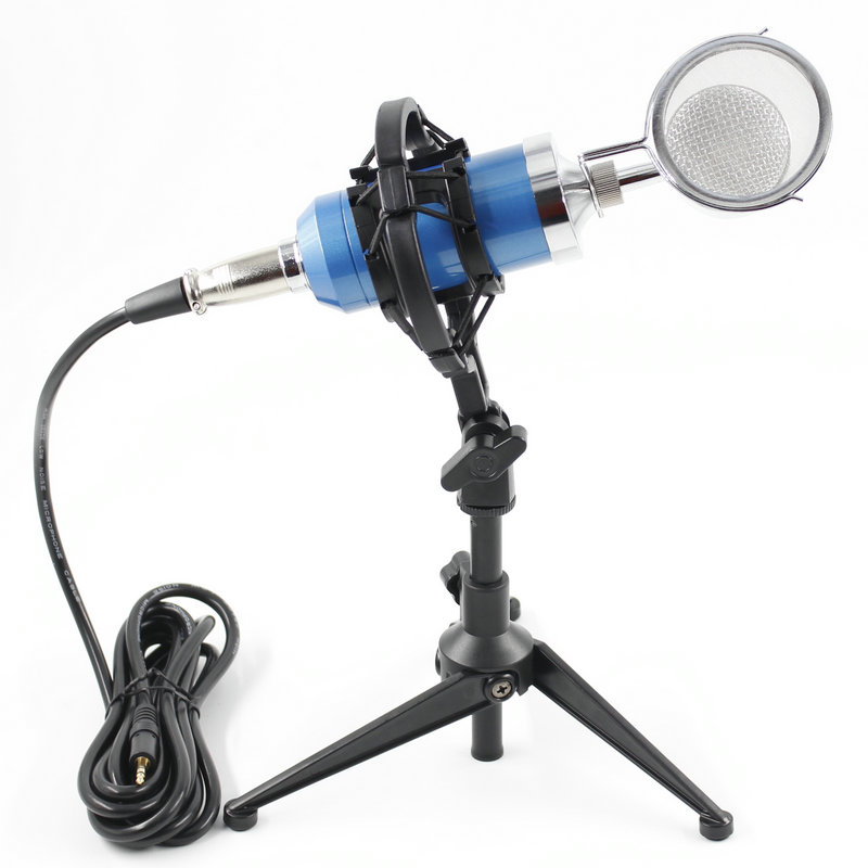 BM8000 Professional Condenser Sound Recording Microphone with Desktop Stand  For Radio Braodcasting Microphone-in Microphones from Consumer Electronics    1