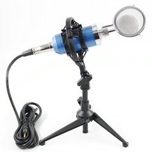 BM8000 Professional Condenser Sound Recording Microphone with Desktop Stand  For Radio Braodcasting Microphone