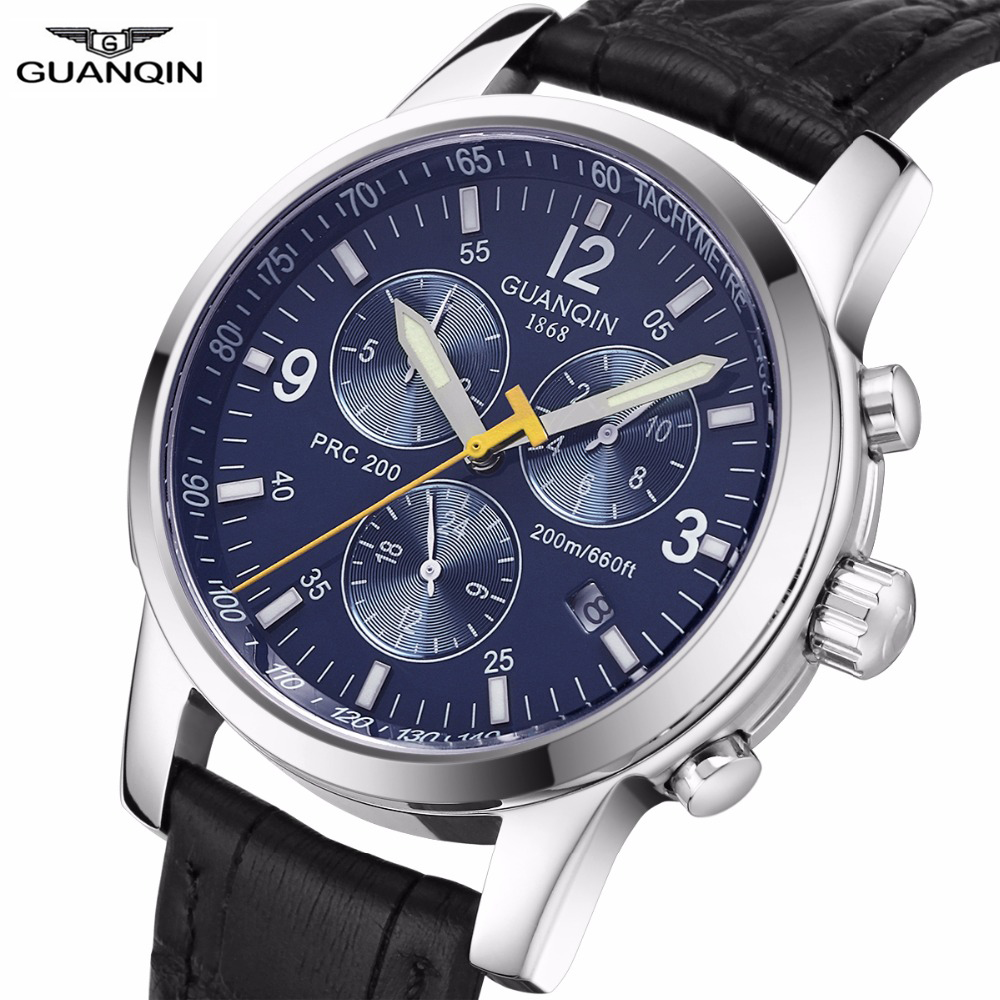 Relogio Masculino GUANQIN Mens Watches Top Brand Luxury Automatic Mens Watch Clock Men Full Steel 200M Waterproof GUANQIN A top brand luxury men watch full automatic mechanical hollow watches men wristwatches hours clock mens watches relogio masculino