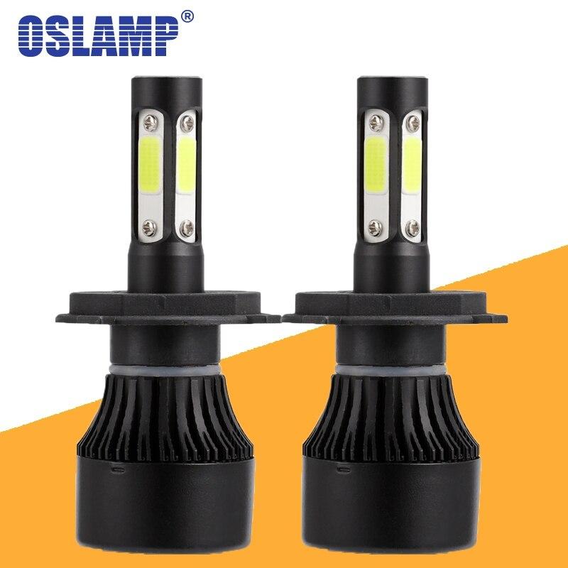 Oslamp X7 4 lado faro Led 100 W 10000LM H4 H7 9005 9006 H11 del coche LED faro bombillas Led Auto faro Led luz 12 v 24 v