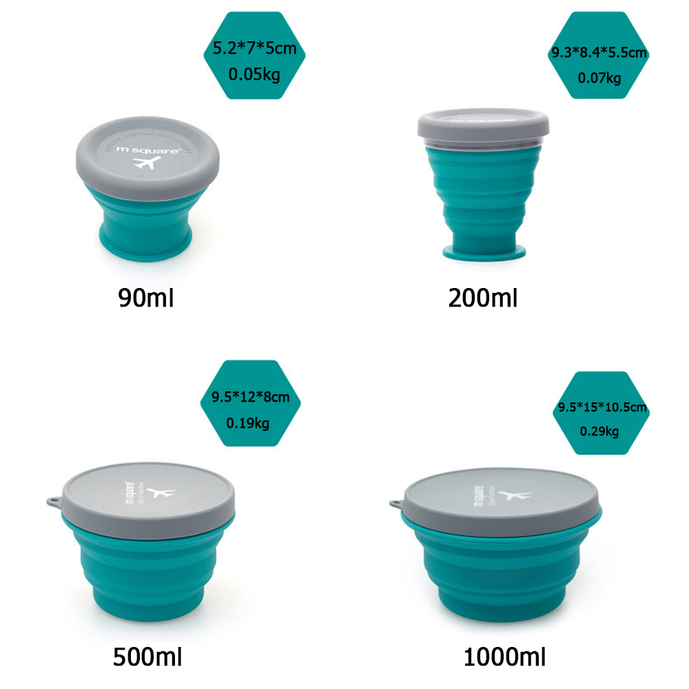 New Food Grade Silicone Collapsible Portable Bowl Travel Outdoor Activities Can Be Caried With Folding Bowl Home Outdoor Bowl in Bowls from Home Garden