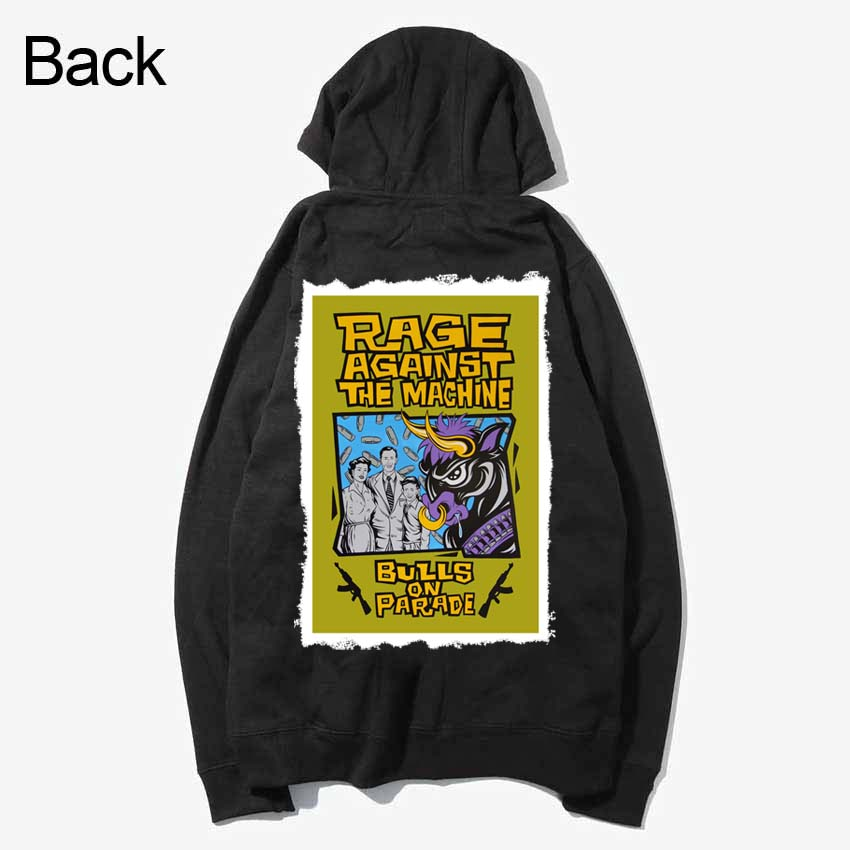 rage against the machine korn rap metal rock patchwork design sweatshirts zipper Hoodies outwear