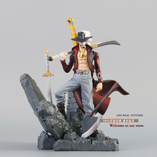 Free Shipping Anime One Piece Dracule Mihawk PVC Action Figure Collection Toy 6″ 15cm