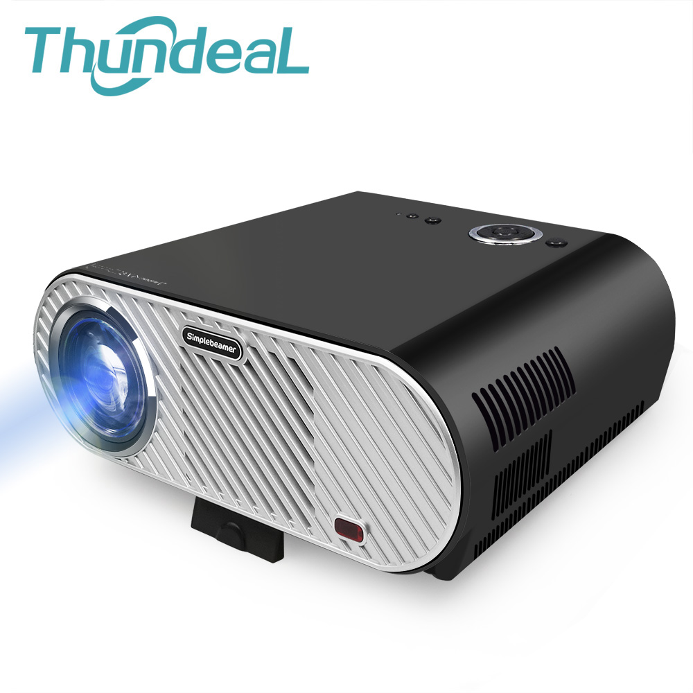 ThundeaL GP90 GP90UP 3200 Lumen LED LCD Projector Android WIFI Player Beamer 720P for Home Theater Meeting Room HDMI VGA USB AV caiwei led projector wifi android 4500 lumens for home cinema school meeting game port hdmi vga usb av tv proyector beamer