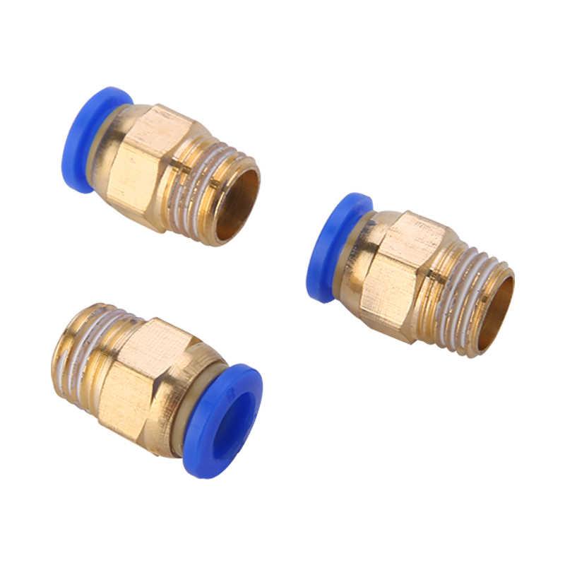 """8mm Tubo 1//4/""""BSP rosca macho conector rápido aire neumático accesorios de 8 piezas"""