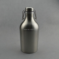 Stainless Steel Beer Growler 64 Oz Swing Top Beer Growler Beer Bottle