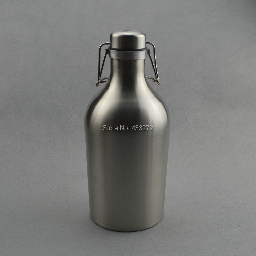 Stainless Steel Beer Growler - 64 oz,Swing Top Growler,Beer Bottle Homebrew Supply store