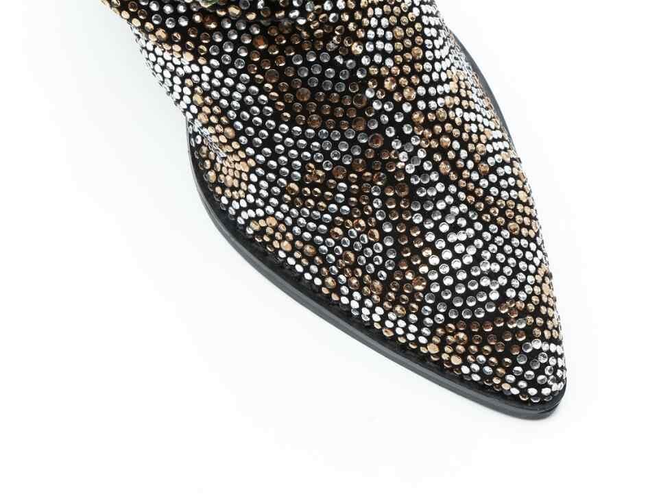 Красный прозрачный кристалл ремень Для женщин ботинки с высоким голенищем на шпильках полный Стразовая Diamond из коровьей замши женские сапоги до колена взлетно-посадочной полосы высокого сапоги на высоком каблуке новые