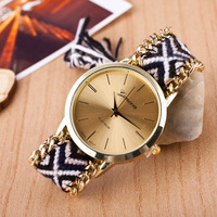 New Ladies Watch Handmade Braided bayan saatleri Fashion Bracelet Watch Women's GENEVA Quartz Watch Female relogio feminino Women Quartz Watches