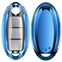 Корпусы для ключей зажигания ТПУ чехол для ключей брелок в виде ракушки для Nissan Tiida Livina X-Trail T31 T32 Qashqai Teana марта Juke для Infiniti EX FX G25
