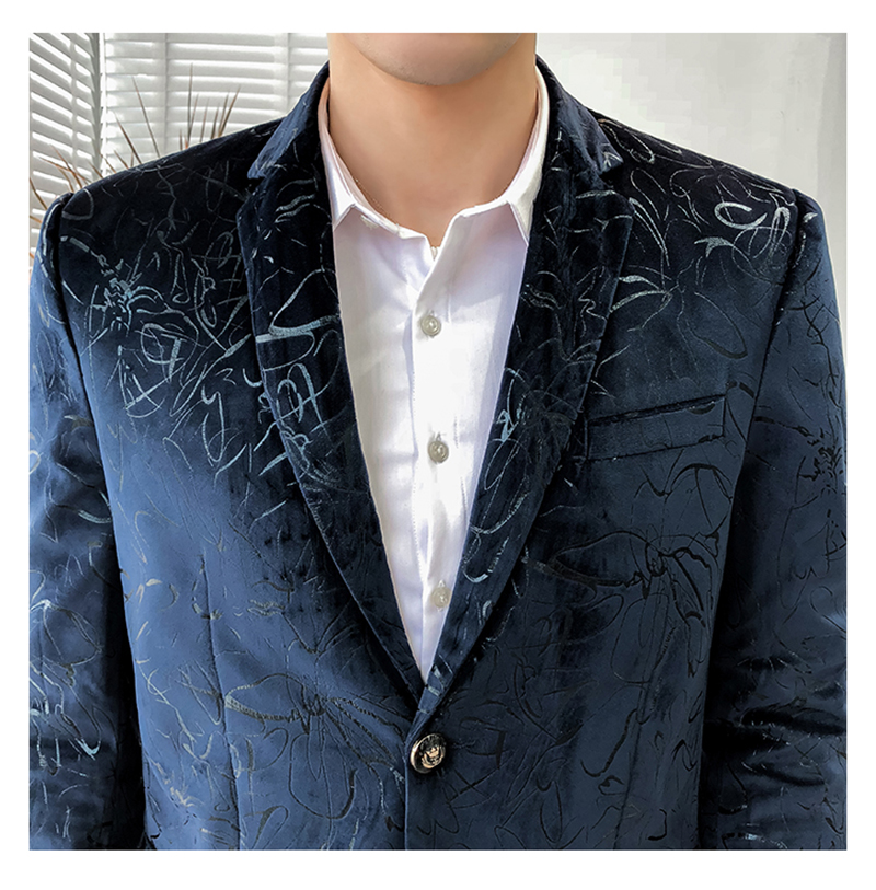 Blazer Masculino Slim Fit Casual Blazers Men Suits Wedding Blazer For Men (12)