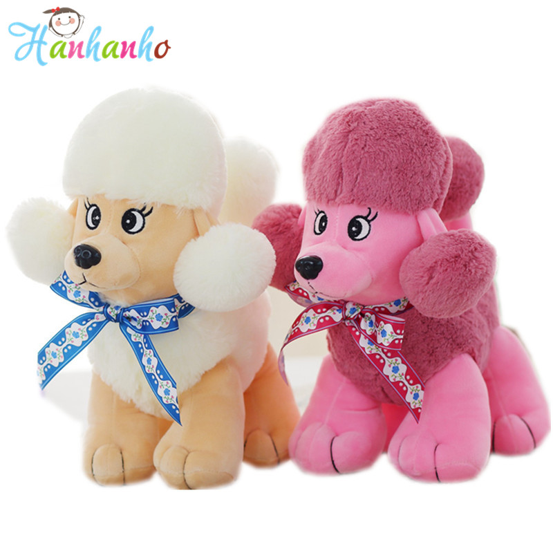 Cute Poodle Dog Plush Toy Good Quality Stuffed Animal Puppy Doll Model Soft Doll Kids Gift Baby Toy Christmas Present 30cm plush toy stuffed toy high quality goofy dog goofy toy lovey cute doll gift for children free shipping