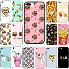 Pizza Französisch frites Donut essen weichen silikon telefon abdeckung fall für iphone 5 5s SE 6 6s 7 8 Plus X XR XS 11 pro Max