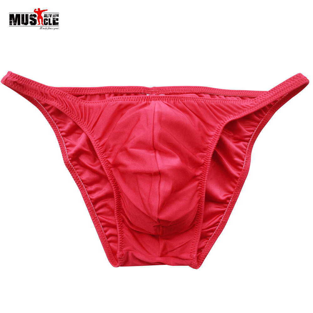 Buy Men's Bodybuilding Posing Trunk Gymwear Male Fitness Briefs Fitness Competition Posing Wear High Elastic, M-XL, Free Shippping