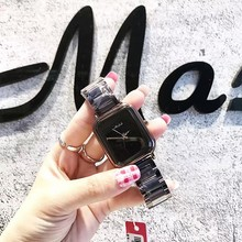 2017 Mashali New Women Durable Star Face Square Women's Watches Stainless Steel Strap Fashionable Women's Watch Waterproof Clock