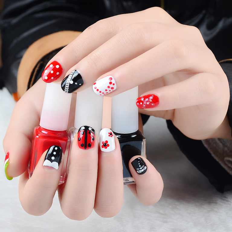BK brand new nail art decorations set 7ml*3 DIY nail polish and nail ...