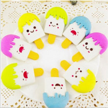 2x Creative stationery change rubbing children cute cartoon ice cream eraser primary school prizes kawaii supplies