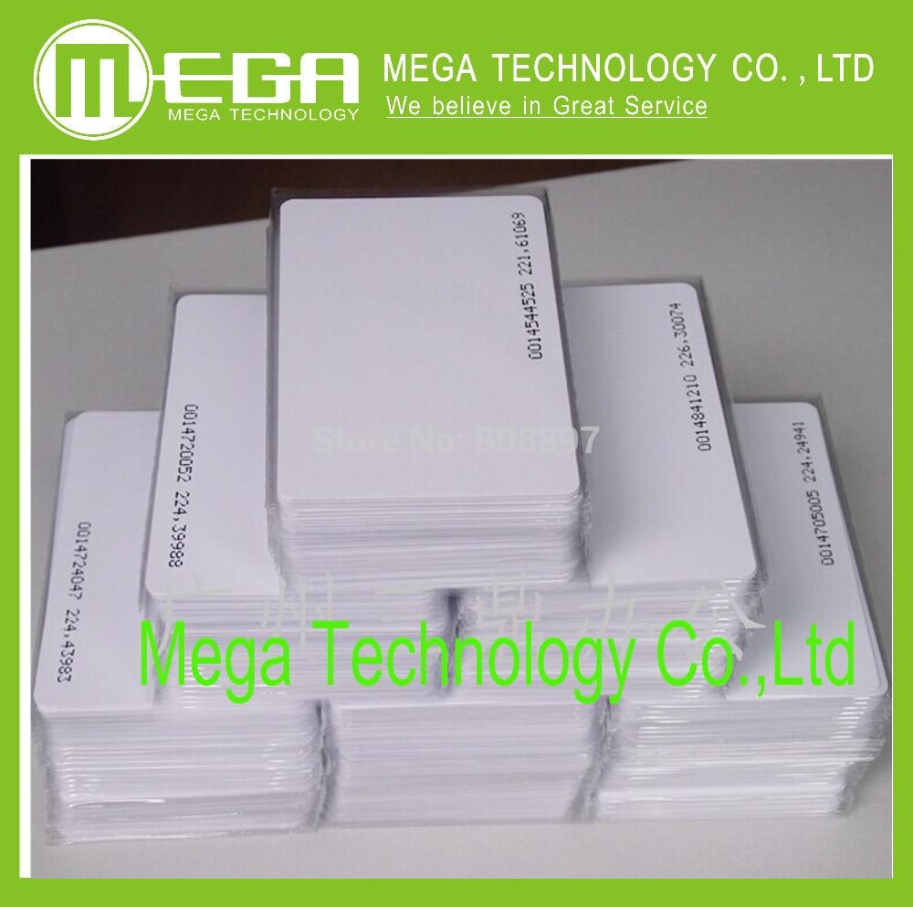 Free Shipping 100pcs/lot EM ID CARD 4100/4102 Reaction ID Card 125KHZ RFID Card