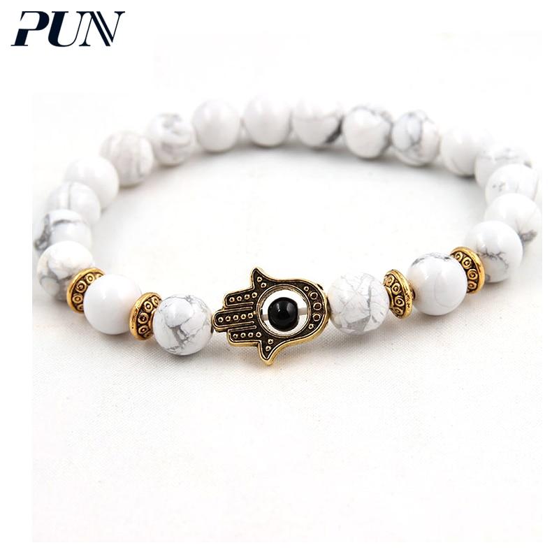 PUN bijouterie best friend bracelet magnetic natural stone couple men beads chakra bracelet for women femme accessories jewelry